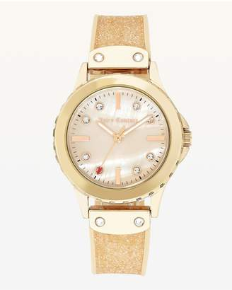 Juicy Couture Gold Glitter Watch