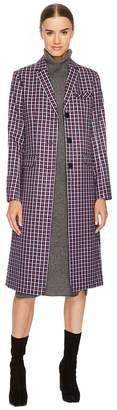 Sonia Rykiel Small Check Tailoring Coat Women's Coat