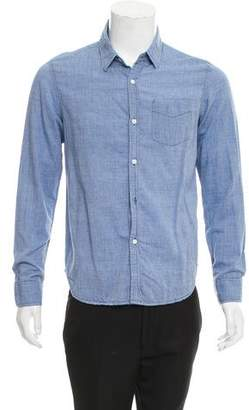 Band Of Outsiders Chambray Button-Up Shirt