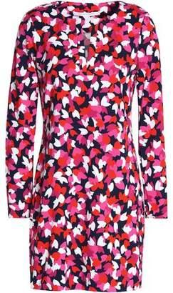 Diane von Furstenberg Printed Silk-Jersey Mini Dress
