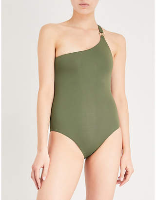 Melissa Odabash Ladies Khaki Seychelles One-Shoulder Swimsuit