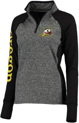 Duck Head Footwear Unbranded Women's Gray/Black Oregon Ducks Finalist Quarter-Zip Pullover Jacket