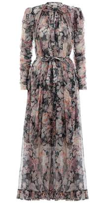 Zimmermann Tempest Frolic Dress in Black Faded Floral