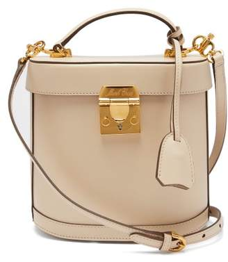 Mark Cross Benchley Leather Shoulder Bag - Womens - Beige