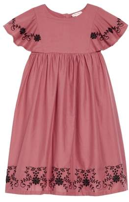 Ruby & Bloom Embroidered Flowy Dress