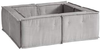 Pottery Barn Teen Cushy Pit Sectional Set, Light Gray Faux-Suede, QS EXEL