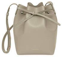 Mansur Gavriel Mini Saffiano Leather Bucket Bag
