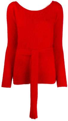 Semi-Couture Semicouture waist-tied jumper
