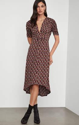 BCBGMAXAZRIA Twist Front Midi Dress