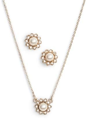 Marchesa Imitation Pearl Necklace & Earrings Set