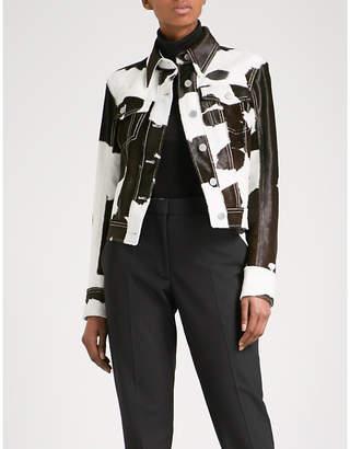 Calvin Klein Cow-print calf hair jacket