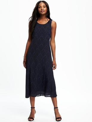 Patterned Midi Swing Dress for Women $36.94 thestylecure.com