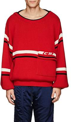 Cmmn Swdn Men's Striped Merino Wool Oversized Sweater