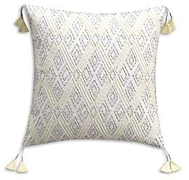 Tribal Geo Embroidered Decorative Pillow, 18 x 18