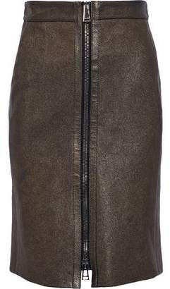 Belstaff Metallic Leather Skirt