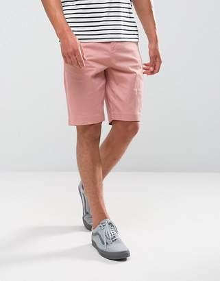 Bershka Slim Fit Chino Short In Pink