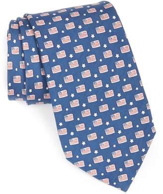 Vineyard Vines Flag Print Tie