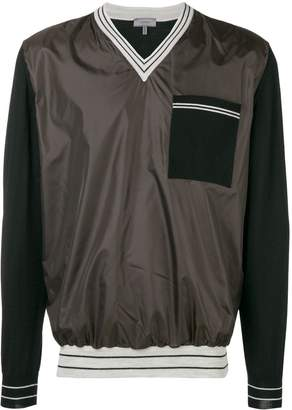 Lanvin v-neck patch pocket crewneck sweatshirt