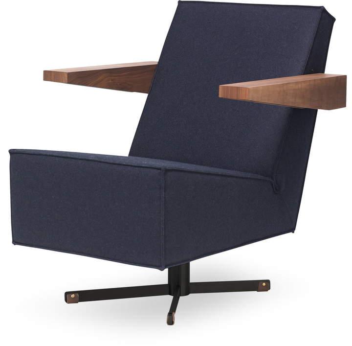 Press Room Chair schwarz (Divina 3 / 791), Nussbaum