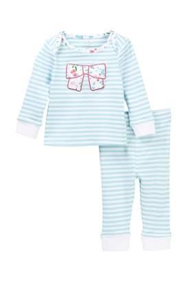 Kate Spade bow applique 2-piece pajamas (Baby Girls)