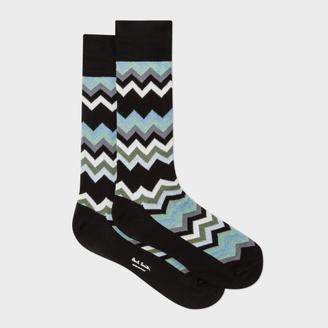 Men's Black 'Fleet Chevron' Socks $30 thestylecure.com