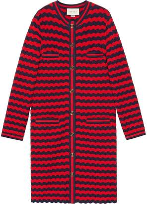 Gucci Striped cotton wool cardigan