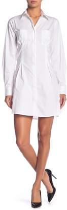 KENDALL + KYLIE Kendall & Kylie Long Sleeve Corset Detailed Shirtdress