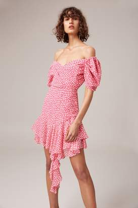 C/Meo COLLECTIVE BE ABOUT YOU SHORT SLEEVE DRESS magenta daisy