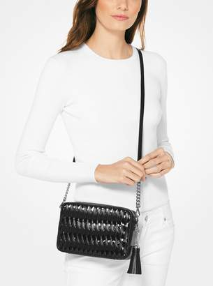 MICHAEL Michael Kors Ginny Woven Leather Crossbody