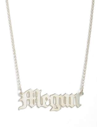 Argentovivo Personalized English Font Name Necklace
