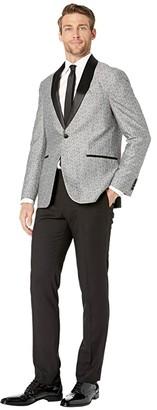 Kenneth Cole Reaction Paisley Shawl Collar Tuxedo