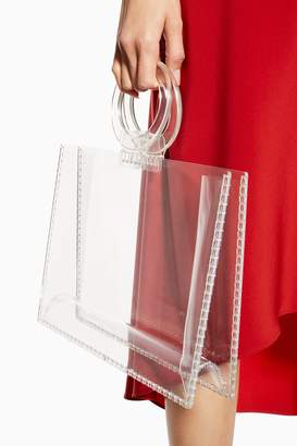 Topshop GABBY Clear Acrylic Tote Bag