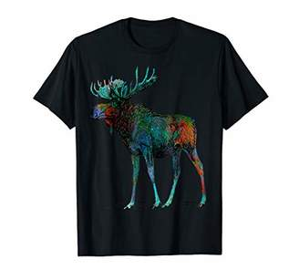 Colorful Moose White Mugs t shirt