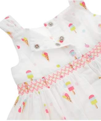 Monsoon Newborn Baby Girls Lolly Dress andKnickers - Ivory