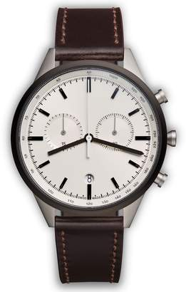 Uniform Wares C-Line Chronograph Leather Strap Watch, 41mm