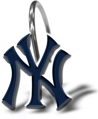 New York Yankees MLB 12-Piece Shower Curtain Ring Set