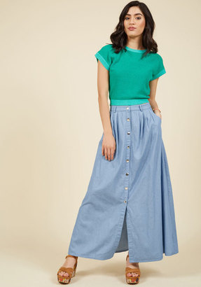 ModCloth Ensemble Ingenuity Maxi Skirt in L $54.99 thestylecure.com