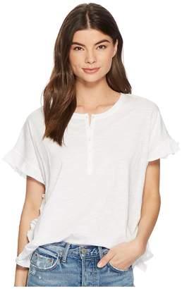 Kensie Cotton Slub Top KS3K3648 Women's Clothing