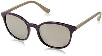Vogue Women's Injected Woman Non-Polarized Iridium Square Sunglasses