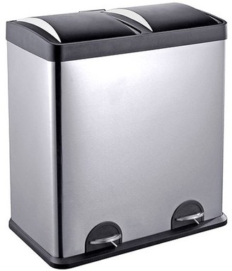 N. Step N' Sort 16-Gallon 2-Compartment Trash and Recycling Bin - Available in Multiple Colors.