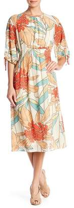 Maggy London Printed Colorful Dress