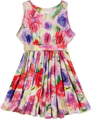 Helena Pastel Rose Print Knit Dress, Size 7-14