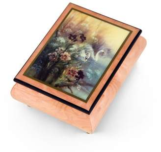 "Ercolano MusicBoxAttic Handcrafted Music Box Featuring ""Swan With Daylilies"" by Lena Liu - Way You Look Tonight, The"