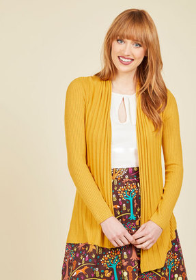 Dreamers by Debut Officewear Official Cardigan in Curry $39.99 thestylecure.com