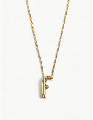 Maje F initial necklace