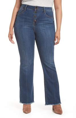 Seven7 Ultra High Rise Button Fly Flare Jeans
