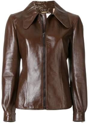 Chloé oversized collar zipped jacket