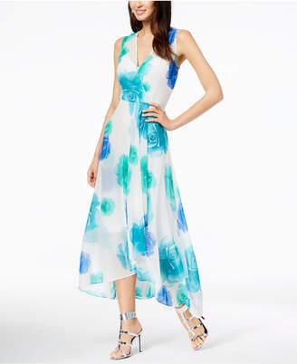 Calvin Klein Floral-Print Chiffon Surplice Dress