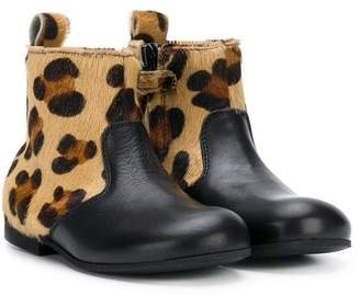 Gallucci Kids leopard-print ankle boots