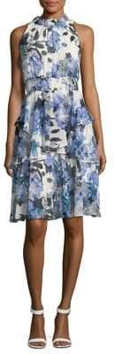 Eliza J Sleeveless Ruffle Dress